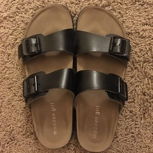 Madden Girl Brando Sandals (Black, 6.5)